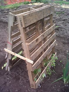 Tutorial: How to build a squash, melon, and/or bean house out of wood pallets. Easy, cheap and a great garden space saver!