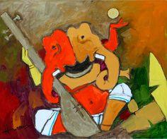 m f hussain paintings highest price Mf Hussain Paintings, The Mahabharata, Cubism Art, Mother Teresa, Indian Paintings, Ganesha, Artist Art, Indian Art, Mythology
