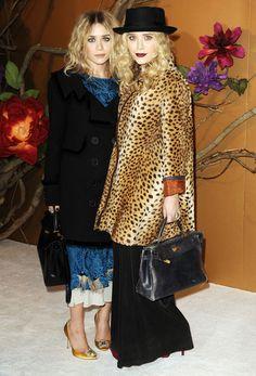 Ashley et Mary Kate Olsen lors de l'hommage à Tim Burton au musée d'art moderne de New York en 2009