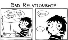 A Good Relationship Versus A Bad Relationship In One Comic