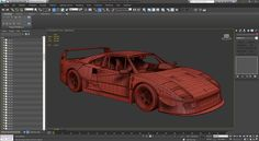 Car blueprint setup mayaphotoshop tutorial maya pinterest free ferrari f40 3d model on behance malvernweather Gallery