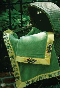 John Deere Baby Blanket--Farm Scene..must show this to my granny!
