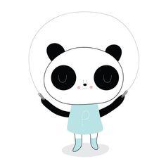 Getekende panda