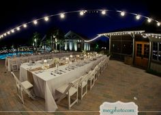 #backyard wedding #pool #outdoor reception