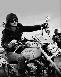 Girls on motorbikes