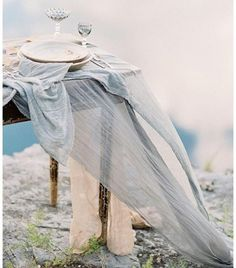 How To Drape Reception Table Linen / Silk and Willow Art Bleu, Silk And Willow, Denver Wedding Photographer, Beautiful Table Settings, Dusty Blue Weddings, Sydney Wedding, Nashville Wedding, Wedding Linens, Wedding Planners