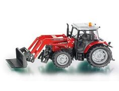 The 1/32 Massey Ferguson Tractor with Front Loader from the Siku Farmer Series - Discounts on all Siku Diecast Models at Wonderland Models.    One of our favourite models in the Siku Farmer Series Tractors range is the Siku Massey Ferguson Tractor with Front Loader.    Siku manufacture wonderful, amazingly accurate and detailed diecast models of all sorts of vehicles, particularly tractors and trailers including this Massey Ferguson Tractor with Front Loader.