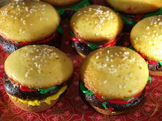 Cheeseburger Cupcakes by KateDW™, via Flickr - with step by step pics :)
