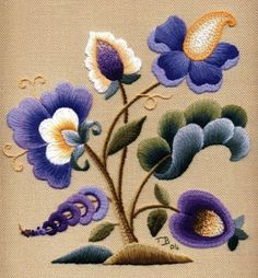 Wonderful Ribbon Embroidery Flowers by Hand Ideas. Enchanting Ribbon Embroidery Flowers by Hand Ideas. Bordado Jacobean, Crewel Embroidery Kits, Learn Embroidery, Silk Ribbon Embroidery, Cross Stitch Embroidery, Embroidery Thread, Embroidery Supplies, Leather Embroidery, Embroidery Tattoo