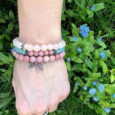 Sterling silver dragonfly and rhodonite bracelet. #giftforher #womensfashion #womensaccessories #gemstonebracelet #giftforwife #birthdaygiftwomen #anniversarygiftforher #gemstonejewelry #dragonflycharmbracelet #jewelryforwomen #gemstonejewelry A personal favourite from my Etsy shop https://www.etsy.com/uk/listing/562322278/dragonfly-charm-rhodonite-bracelet