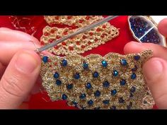 YouTube Col Crochet, Bead Crochet Rope, Crochet Quilt, Irish Crochet, Crochet Boarders, Crochet Stitches Patterns, Crochet Patterns For Beginners, Crochet Designs, Crochet Necklace Pattern