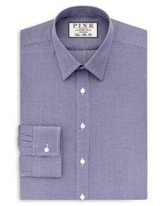 Thomas Pink Hartley Texture Slim Fit Dress Shirt