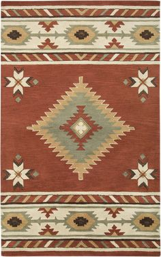 Rizzy Rugs Southwest Red Rug & Reviews   Wayfair