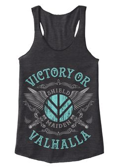 Join Lagertha in the shield wall with our Victory or Valhalla range. The perfect tops for your Shieldmaiden workouts! **THESE ARE NOT AVAILABLE IN STORES**WORLDWIDE SHIPPING  Buy two or moreand save on shipping. (Maybe order with a friend or buy one as a gift.)   Guaranteed Safe and Secure Checkout: PayPal, Visa, MasterCard.