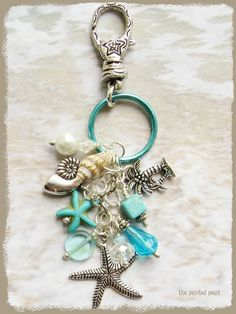 Starfish Keychain Starfish Bag Charm Beach by ThePaintedPearlSRQ