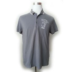 #ebay Versace Men Size L HALF MEDUSA GRAY POLO shirt Short Sleeve New Collection Large withing our EBAY store at  http://stores.ebay.com/esquirestore