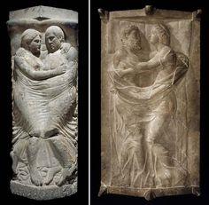 Etruscan sarcophagi.
