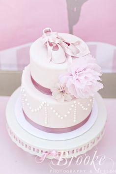 Vintage Ballerina party cake