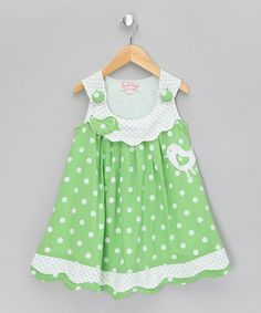 Take a look at this Floral Green Bird Jumper - Infant, Toddler & Girls by Powell Craft on today! Toddler Dress, Toddler Outfits, Baby Dress, Kids Outfits, Infant Toddler, Toddler Girls, Little Dresses, Little Girl Dresses, Girls Dresses