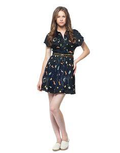 Vestido Raposa   Antix Store  #dress #fox #cute #pleated
