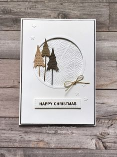 Cute Christmas Tree, Create Christmas Cards, Christmas Colors, Handmade Christmas, Stampin Up Christmas, Holiday Cards, Whimsical Christmas Trees, Christmas Traditions, Card Making