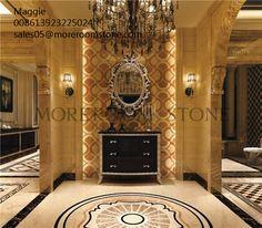 Hot Sales Home Design Water Jet Design Marble Wall Tile -- Moreroom Stone