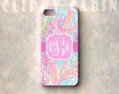 Handmade Custom Monogram Sublimation Case, Apple iPhone 5, 4, 4s, with Rubber Sides : Coral Reef Pattern, Swaying Vibrant Seaweed on Etsy, $15.99