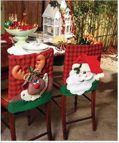 Christmas decor trends part 1 Christmas Sewing, Christmas Projects, Christmas Home, Christmas Holidays, Christmas Ornaments, Indoor Christmas Decorations, Holiday Decor, Christmas Chair Covers, All Things Christmas