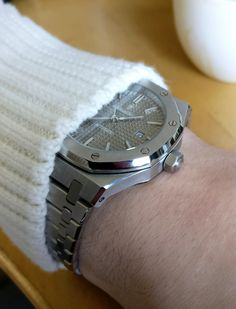 AP royal oak 3120 platinum plated silver dial   40 JEWELS 15400st Zara turtleneck knitted sweater wool white