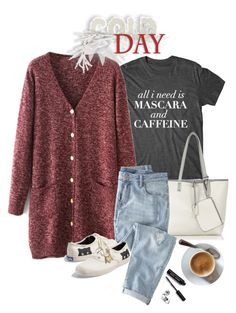 """""""Mascara & Caffeine"""" by musicfriend1 on Polyvore featuring Oasis, Wrap, Keds and Bobbi Brown Cosmetics"""