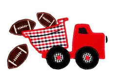 Football DUMPTruck machine embroidery applique by AppliqueFrenzy, $3.99
