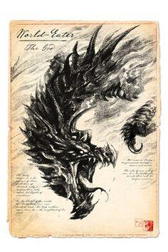 The World-Eater - Dragon Art Print