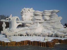 Impresionantes Esculturas De Invierno | Arte Helsinki, Harbin, Mount Rushmore, Mountains, Nature, Travel, Snow Sculptures, New Zealand, Snowflakes