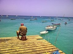 Chillin' on the pier of Santa Maria beach, Sal,#CaboVerde #CapeVerde #Kaapverdie