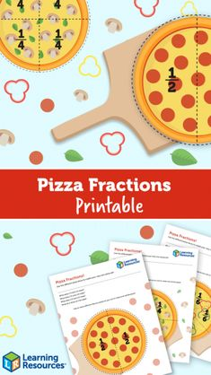 Pizza Fractions Printable! - Learning Resources Blog