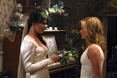 "Maryann Forrester and Sookie Stackhouse in the episode ""Beyond Here Lies Nothin Loved""......."