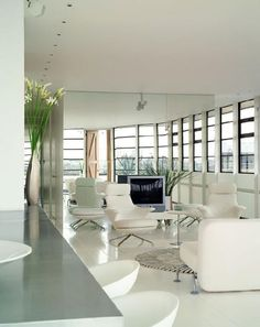 White On White Interior Design | Plushemisphere | Black and White Interior Pictures