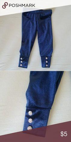 """""""Velvet"""" Leggings Velvet-like stretchy leggings with jeweled sccent buttons. Like new condition. Carter's Bottoms Leggings"""