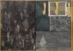 Jasper Johns, Perilous Night, 1982. Encaustic on canvas with objects. National Gallery of Art, Washington, collection of Robert and Jane Meyerhoff. 1995.79.1