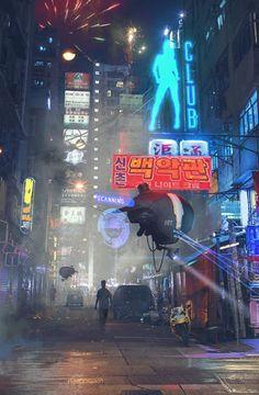Hong Kong Street Patrol by Sergey Zabelin.