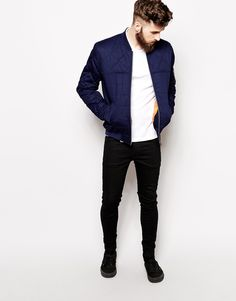asos quilted bomber