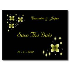 Neon Yellow Flower Sparkle Post Card