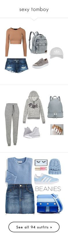 """""""sexy tomboy"""" by itsshayplay ❤ liked on Polyvore featuring 3x1, Vince, Topshop, Icebreaker, Victoria's Secret, Converse, MICHAEL Michael Kors, Kenzo, Blair and Frame Denim"""