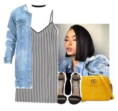 """"""""""" by eazybreezy305 ❤ liked on Polyvore featuring Gucci, Steve Madden, Marco de Vincenzo, cute, summerstyle, 2017 and summer2017"""