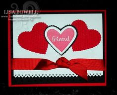 Here is a cute card using Stampin' Up! set that was set up for the Haiti relief fund (retired set). It is one of my favorite embosslit dies.  To see more visit my blog.  Shared by Lisa Bowell-Stampin' Up! Demonstrator @ lisastamps.com