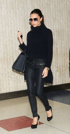 victoria beckham in leather pants 3
