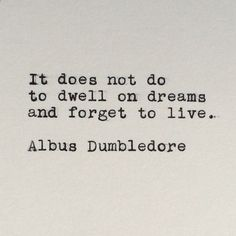 Harry Potters Albus Dumbledore Quote Typed on Typewriter by #LettersWithImpact