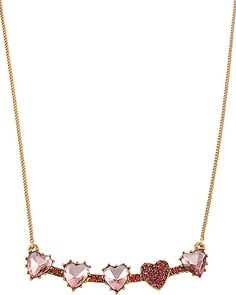 ICONIC PINKALIOUS HEARTS NECKLACE FUSCHIA accessories jewelry necklaces fashion