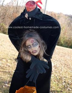 Homemade Headless Zombie Halloween Costume Idea: My daughter decided on a homemade headless zombie Halloween costume idea last year so we thought about it all year around and as Halloween approached she
