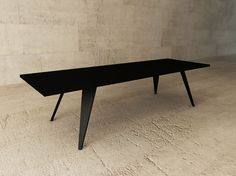 Lacquered rectangular table MEM by LAGERFORM